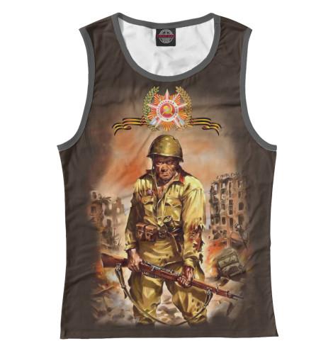 Майка Print Bar Русский солдат сергей булдыгин моонзунд 1941 русский солдат сражается упорно и храбро…