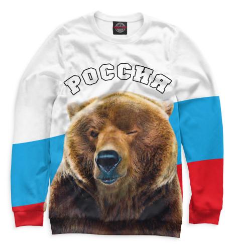 Женский свитшот Медведь подмигивает
