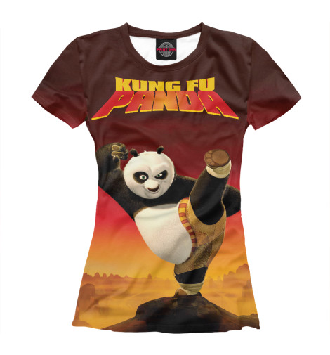 Футболка Print Bar Kung Fu Panda сумка printio kung fu panda