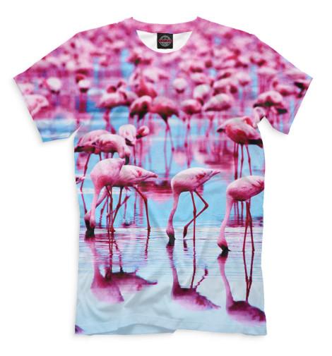 Мужская футболка Розовые фламинго