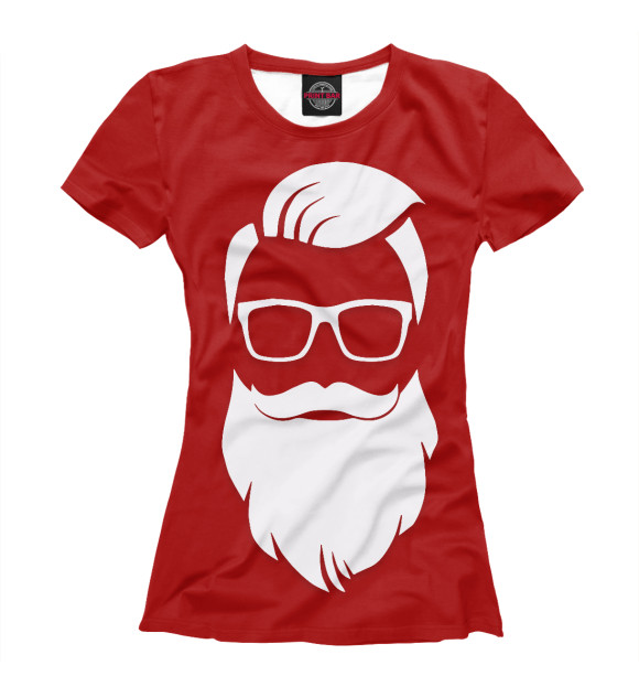 Купить Женская футболка Санта Хипстер NOV-613159-fut-1