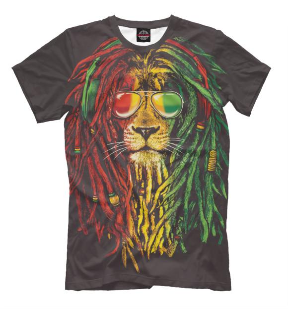 Купить Мужская футболка Лев с дредами HIP-411791-fut-2