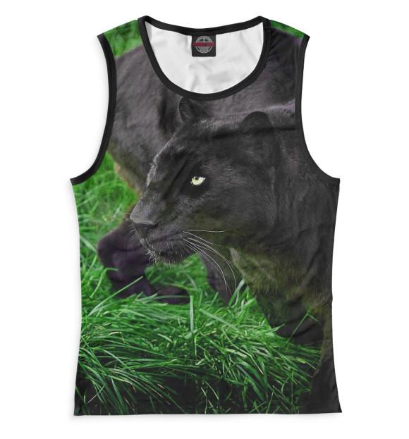 Купить Майка для девочки Пантера на траве HIS-712470-may-1