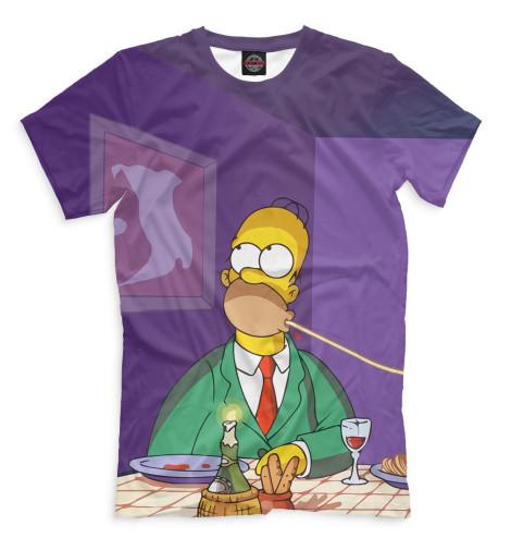 Мужская футболка Гомер и Мардж