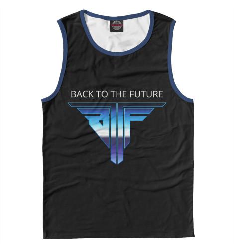 Майка Print Bar Back to the Future logo retro back to the future the ultimate visual history