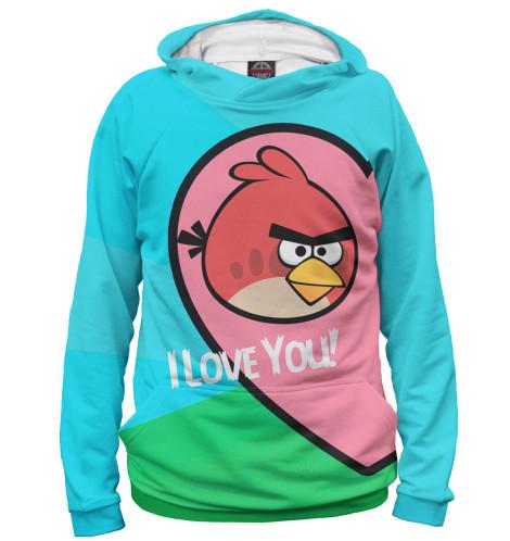 Мужское худи Angry Birds in love