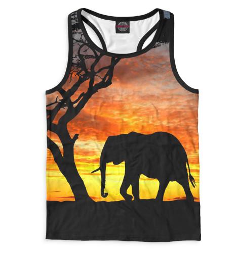 Майка борцовка Print Bar Слоны табуреты слоны в москве