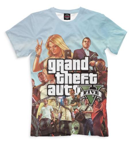 Футболка Print Bar Grand Theft Auto V j фаска grand line коричневая