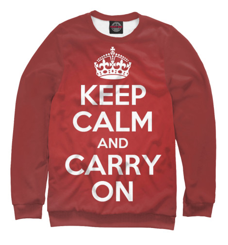 Свитшот Print Bar Keep calm and carry on футболка wearcraft premium printio keep calm and manezhka green