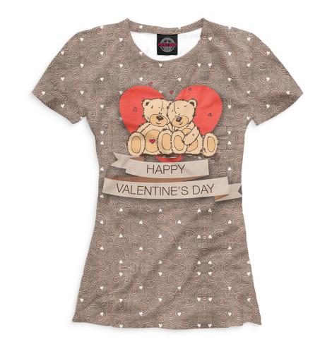 Женская футболка Happy Valentine's Day