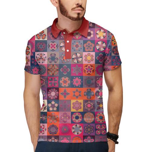 Поло Print Bar Цветочные лоскуты
