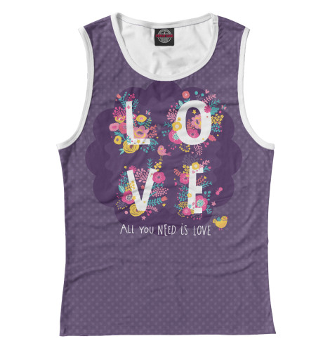 Майка Print Bar All you need is love all you need is love – the peace corps