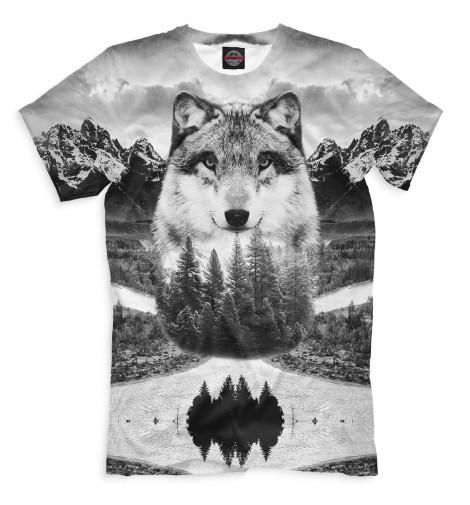 Купить Мужская футболка Волк VLF-840054-fut-2