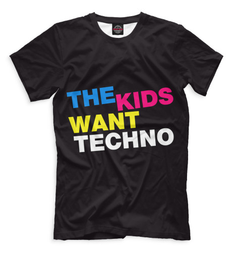 Мужская футболка I Love Techno