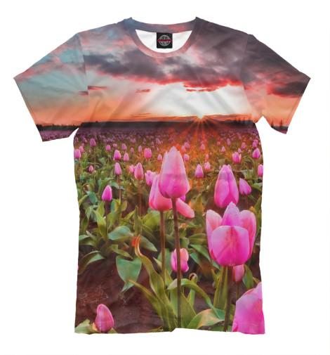 Футболка Print Bar Розовые тюльпаны футболка print bar красные тюльпаны