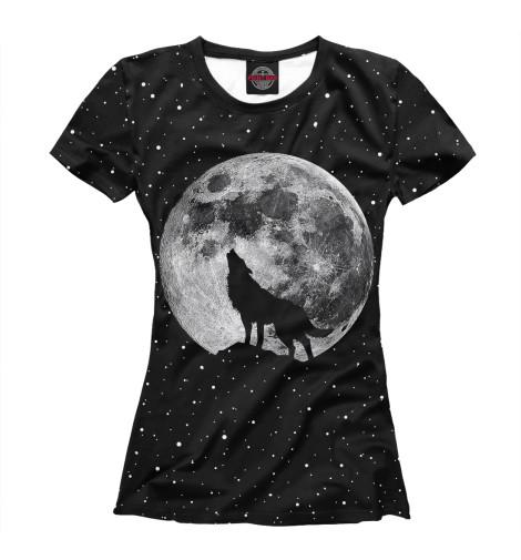 Футболка Print Bar Лунный волк футболка print bar волк тотем