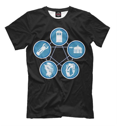 Футболка Print Bar Tardis-Lizard-Sonic-Dalek-Cyberman футболка print bar sega sonic