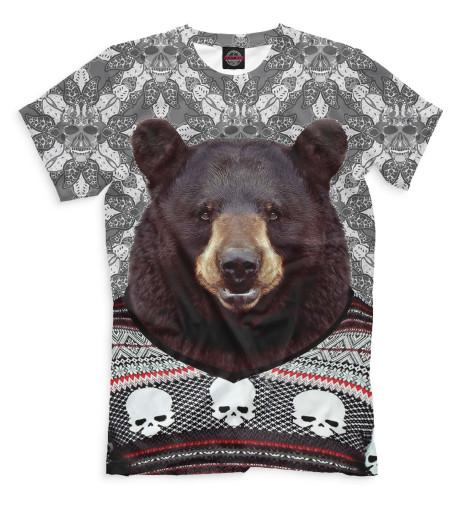 Футболка Print Bar Медведь в свитере сигнализатор поклевки мегатекс в москве