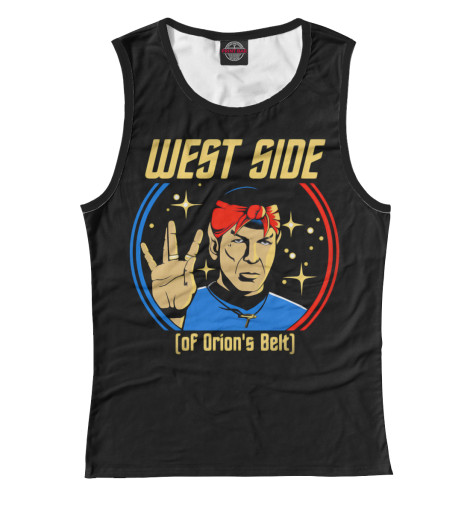 Майка Print Bar West Side (Spock) туфли nine west nwomaja 2015 1590