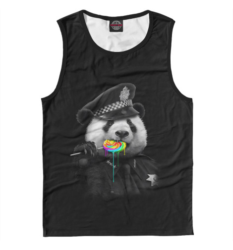 Майка Print Bar Panda Cop футболка print bar panda color