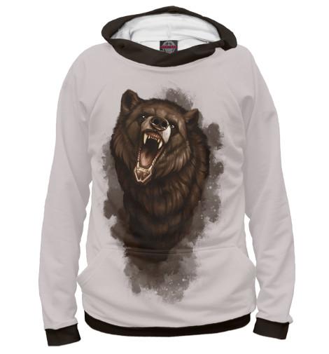 Худи Print Bar Бурый медведь майка борцовка print bar бурый медведь