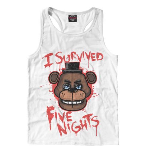 Майка борцовка Print Bar Five Nights at Freddy's подушка printio five nights at freddy s файф найт эт фредди