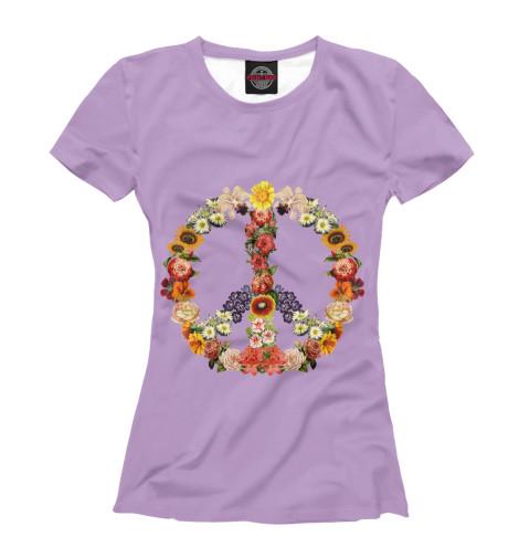 Купить Женская футболка Flower power CVE-227241-fut-1