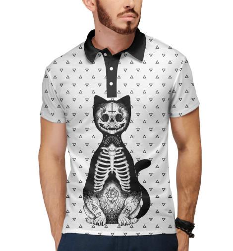 Поло Print Bar Готический кот