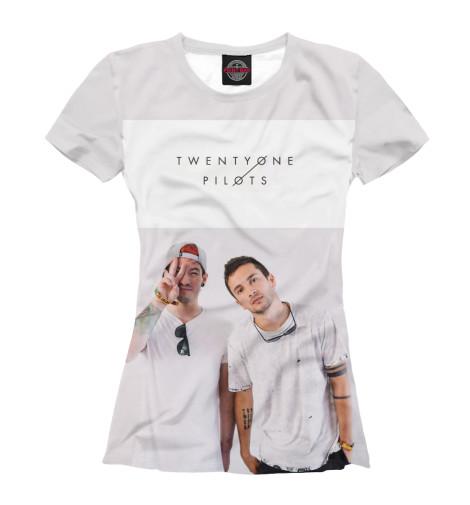 Фото - Женская футболка Тайлер Джозеф и Джош Дан от Print Bar белого цвета