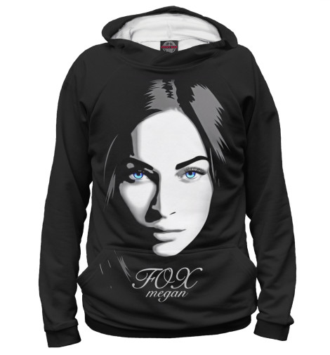 Худи Print Bar Megan Fox: Black glamour