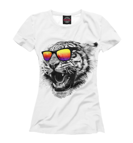 Футболка Print Bar Тигр в очках футболка print bar мопс в очках