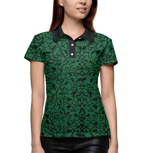 Поло для девочки Abstract Wolf Green ABS-712445-pol-1  - купить со скидкой