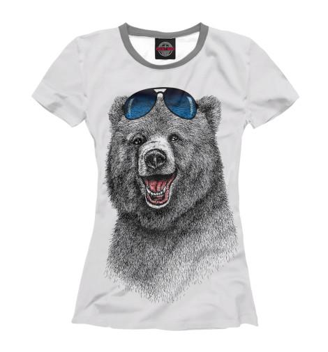 Футболка Print Bar Счастливый медведь свитшот print bar счастливый медведь
