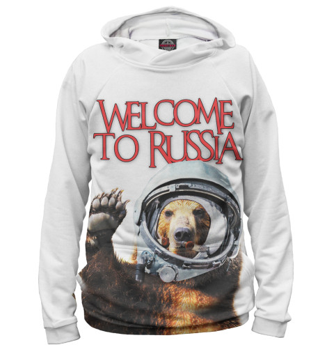 Женское худи Welcome to Russia