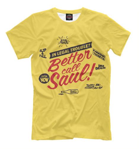 Футболка Print Bar Better Call Saul футболка классическая printio better call saul