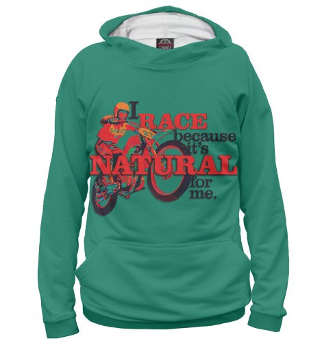 Женское худи I Race Because...