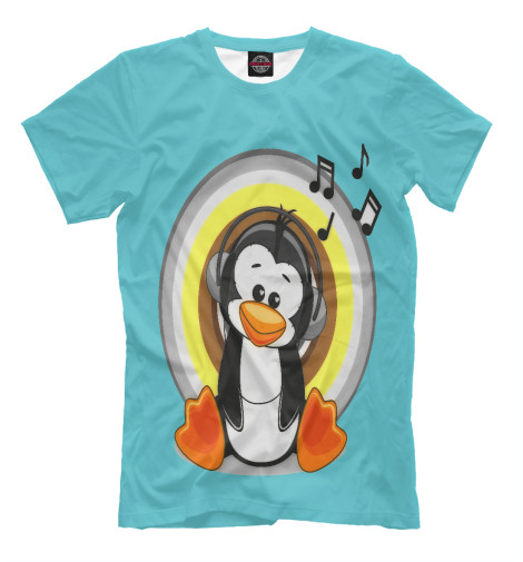 Футболка Print Bar penguin пинетки митенки blue penguin puku