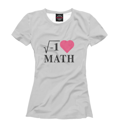Футболка Print Bar Я люблю Математику футболка стрэйч printio я люблю мир
