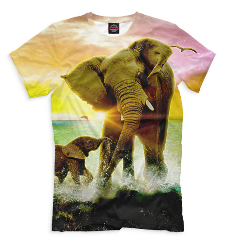 Футболка Print Bar Слоны табуреты слоны в москве
