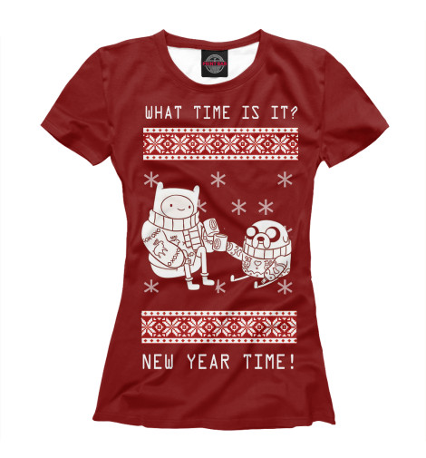 Футболка Print Bar New Year Time new time a4