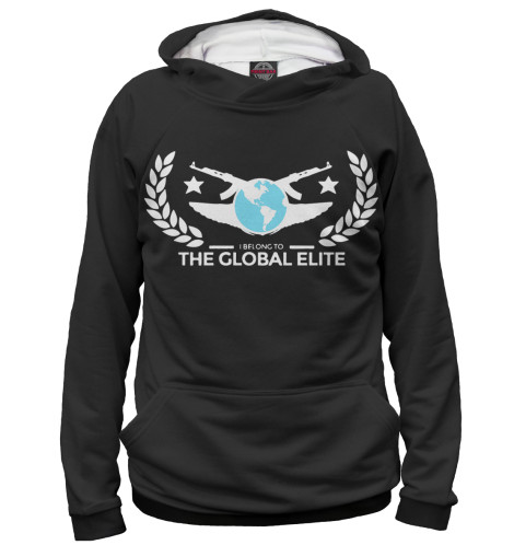 Мужское худи I Belong To Global Elite Black