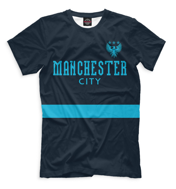 Купить Мужская футболка с принтом Manchester City