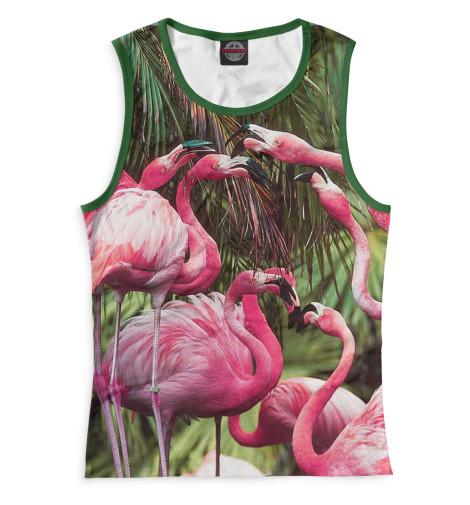 Женская майка Розовые фламинго