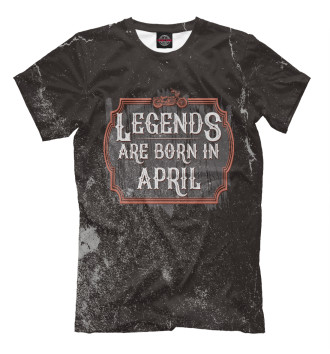 Мужская Футболка Legends Are Born In April
