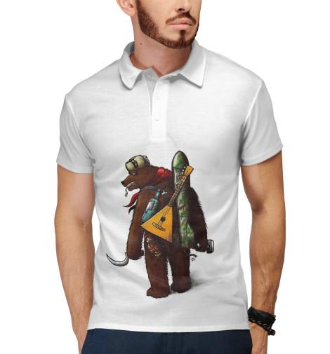 Поло Print Bar Грозный медведь