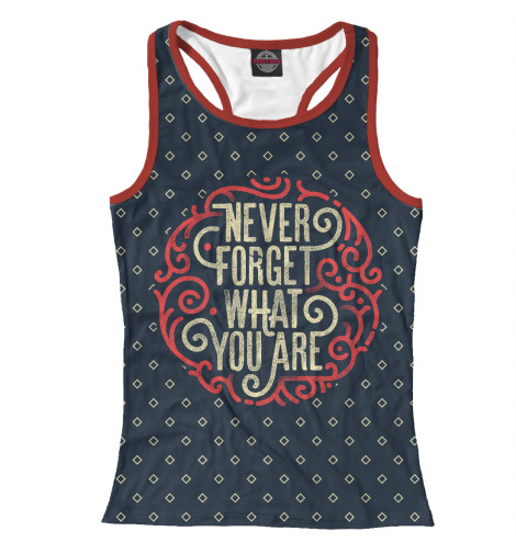 Майка борцовка Print Bar Never Forget forget me not 7