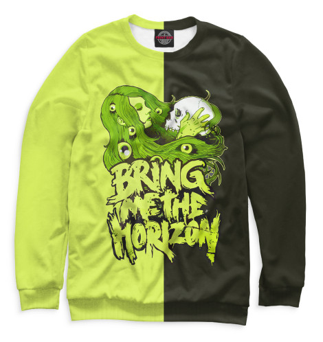 Мужской свитшот Bring Me the Horizon Print Bar BRI-951798-swi