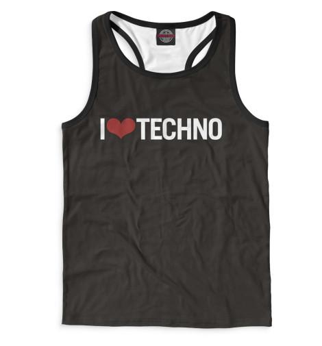 Майка борцовка Print Bar I Love Techno майка борцовка print bar techno viking
