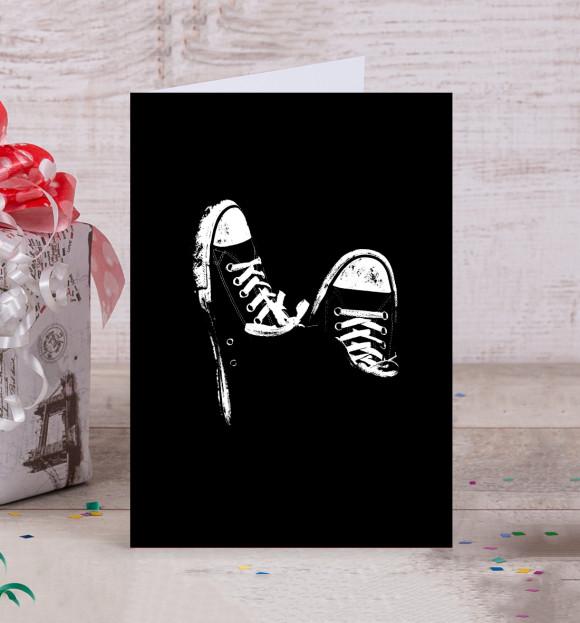 Новогодних, открытка кеда