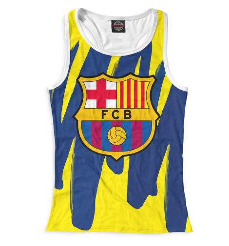 Женская майка-борцовка Герб FC Barcelona
